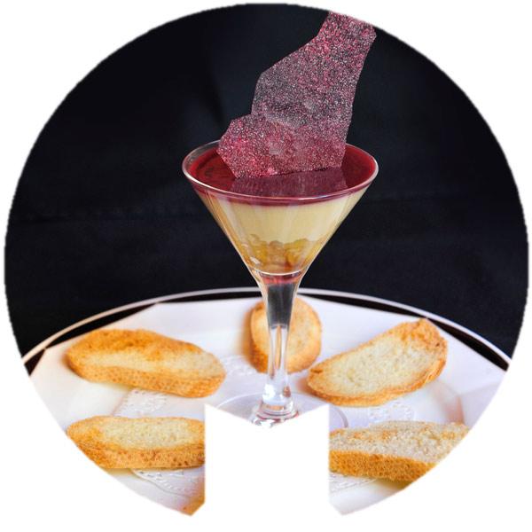 Mousse de foie con Jalea de Monastrell y compota de manzana